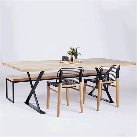 industrial dining table and chairs designer alexandria black steel industrial dining table