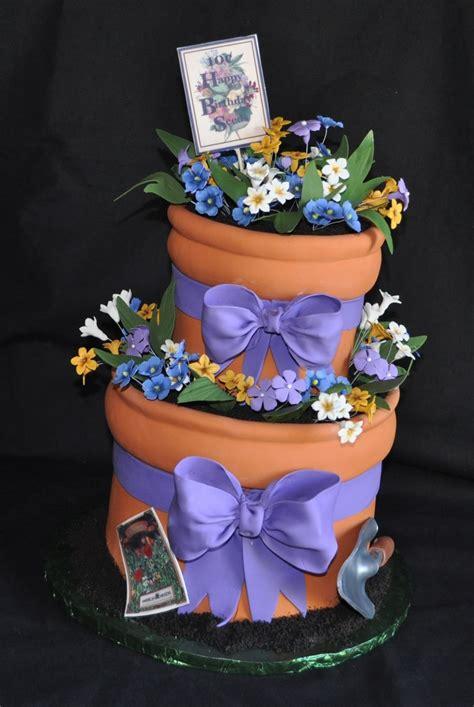 flowerpot cake cakecentralcom