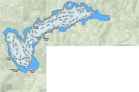 ashley lake fishing map usmt nautical