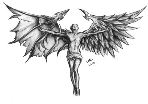 angel and devil wings tattoo designs and by blackcatbo on deviantart wings