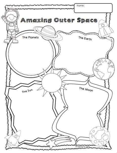 space themed writing paper astronaut writing template pics about space