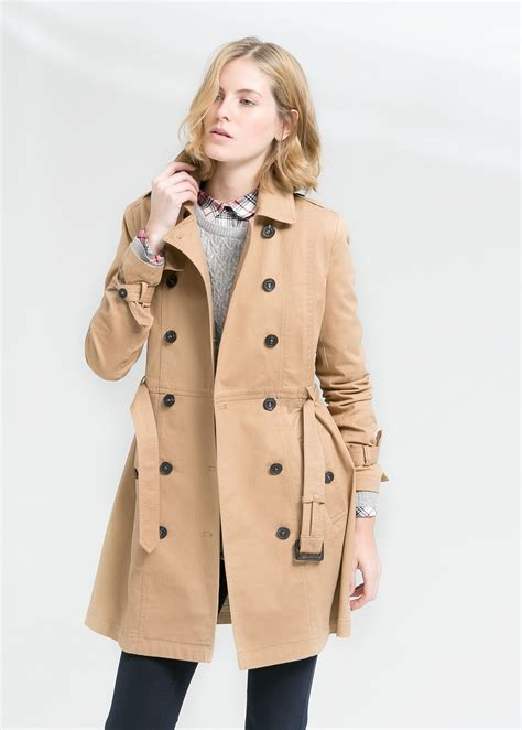Cotton Trench Coat lyst mango classic cotton trench coat in