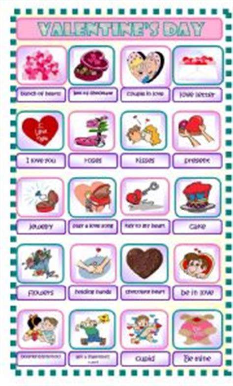 valentines day pictionary 180 s day worksheet by ines