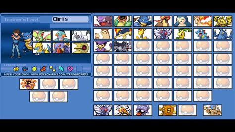 make your trainer card my trainer card chris