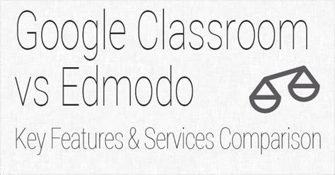 Edmodo Vs Google Classroom 2017 | google classroom vs edmodo key features and services