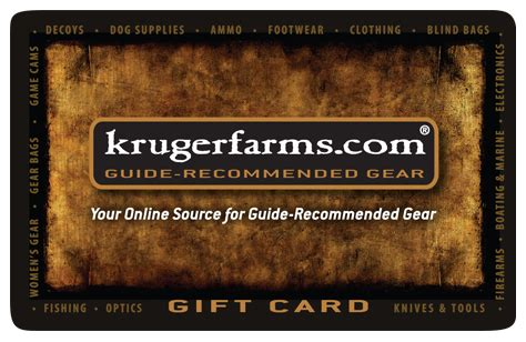 Clothing Gift Cards - kruger farms giftcard kruger farms gift card