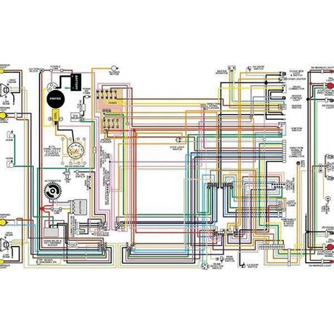 el camino color laminated wiring diagram 1964 1975 el