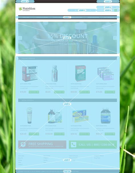nutrition supplements virtuemart template 49104