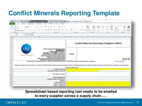 Removing Conflict Minerals From Global Supply Chains Conflict Minerals Reporting Template
