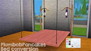my sims 4 blog desk and hanging bed frame conversion by