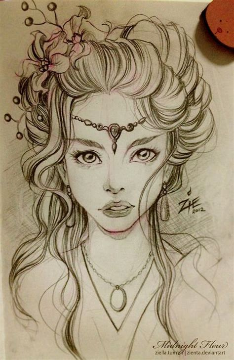 tattoo inspiration drawing hair is beautiful so is that face for more mermaid love