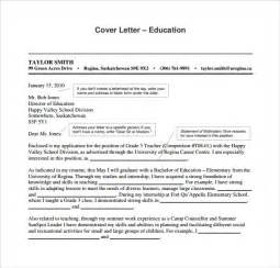 cover letter education education cover letter exle 9 free
