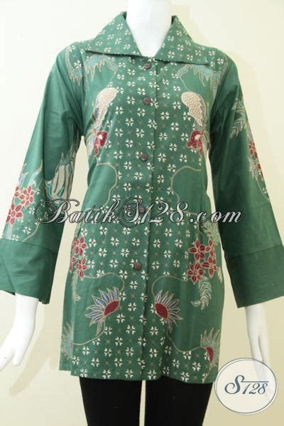 Gamis Batik Tulis Hijau baju batik wanita batik tulis warna hijau bls1216t l