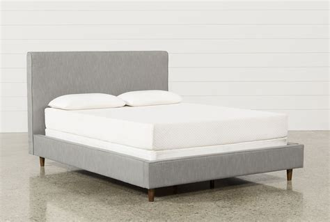 full upholstered bed dean charcoal full upholstered panel bed living spaces