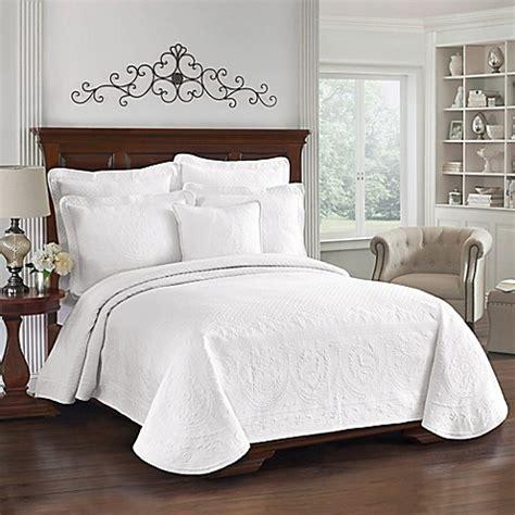 king charles matelasse coverlet  white bed bath