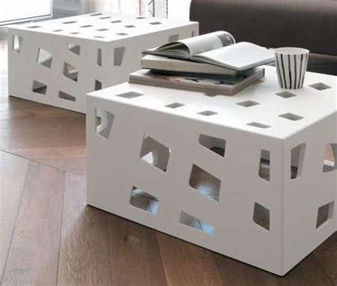 cube lit side table internally lit cutout consoles cube coffee tables