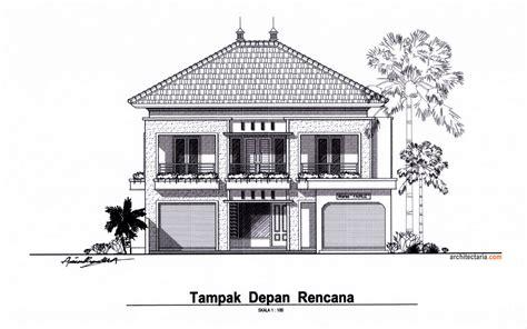 gambar desain rumah 2 lantai lebar 7 meter contoh z