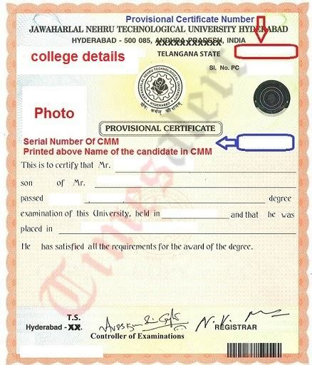 Certified Mba Number by Provisional Degree Certificate Sle Gallery