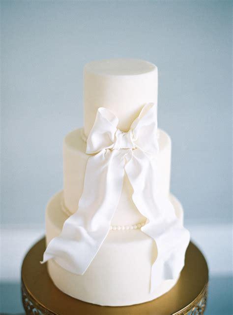 White Wedding Cake with Bow   Elizabeth Anne Designs: The Wedding Blog