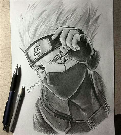 Drawing Kakashi by My Drawing Of Kakashi Hatake Anime
