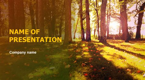 Download Free Sunny Fall Powerpoint Template For Your Fall Powerpoint Templates Free