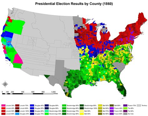 us map of the election of 1860 1860 us presidential election of 1860 by county 1820