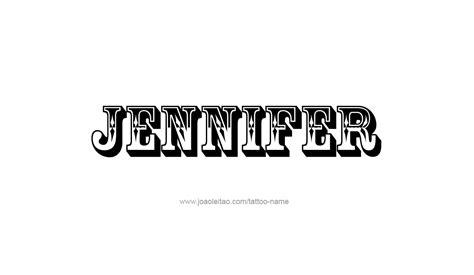jennifer name tattoo designs design name 12 png