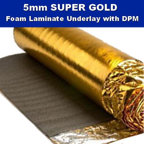 5mm super gold laminate wood underlay dpm 15m2 flooring trade warehouse