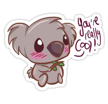 Imagenes Kawaii De Koalas | quot positive cute koala quot stickers by haileyxthunder redbubble