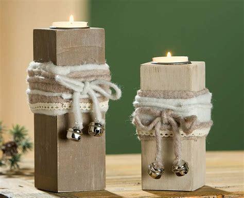 deko teelichthalter gilde deko teelichthalter aus holz mit filzband 14 cm