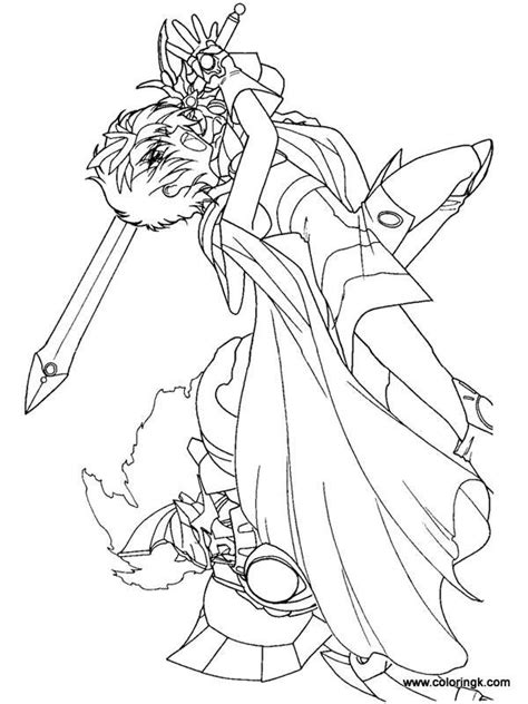 anime magical girl coloring pages magic knight rayearth coloring page 24 coloring book