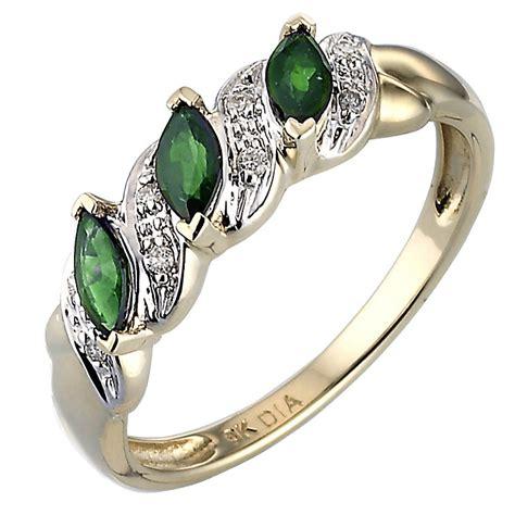 9ct gold emerald ring h samuel