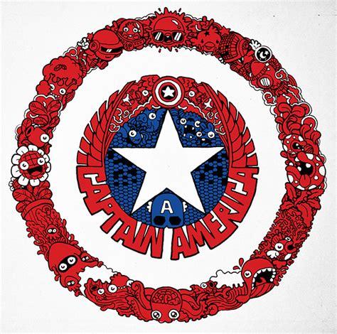 doodle 4 america doodle captain america shield on behance