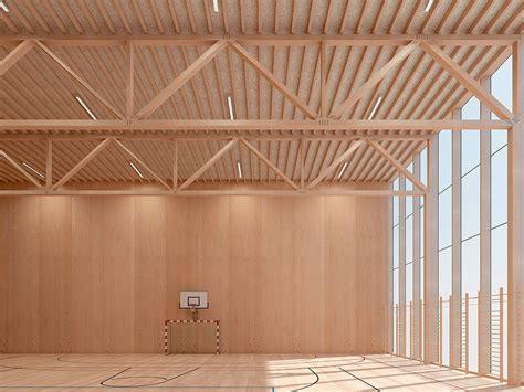 Poutre Treillis by Assemblage Treillis Poutre Bois Architecture