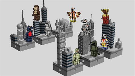 Lego Sy 628 1 8 Minifigure Friends Set 8 In 1 lego ideas godzilla and friends