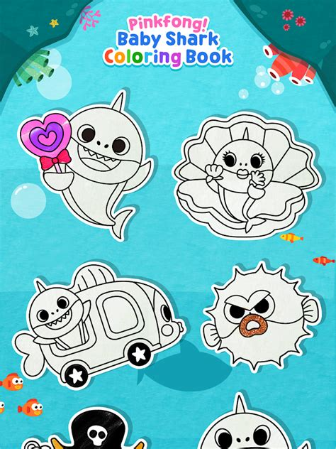 baby shark book pinkfong baby shark coloring book android apps on google