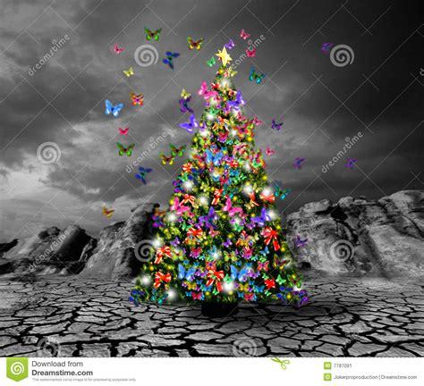 imagenes mariposas navidad 193 rbol de navidad con las mariposas imagen de archivo
