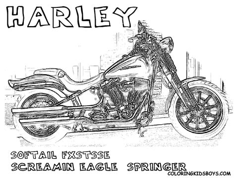 free coloring pages of harley davidson emblems