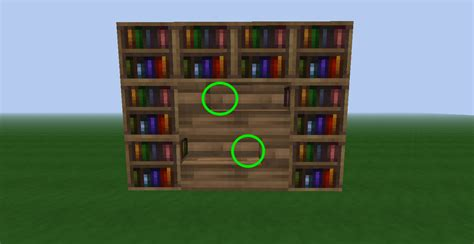 diy bookshelf design minecraft plans free