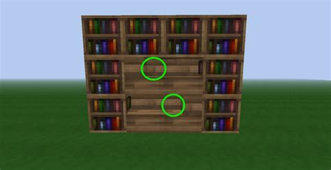 DIY Bookshelf Design Minecraft Plans Free