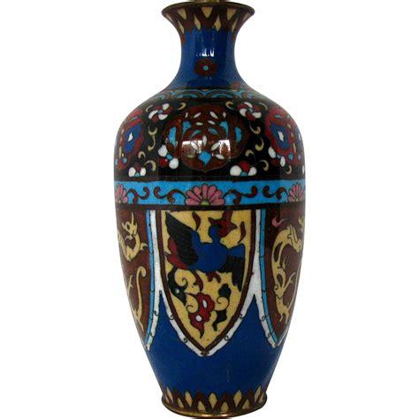 Japanese Cloisonne Vases by Japanese Cloisonne Vase Stylized