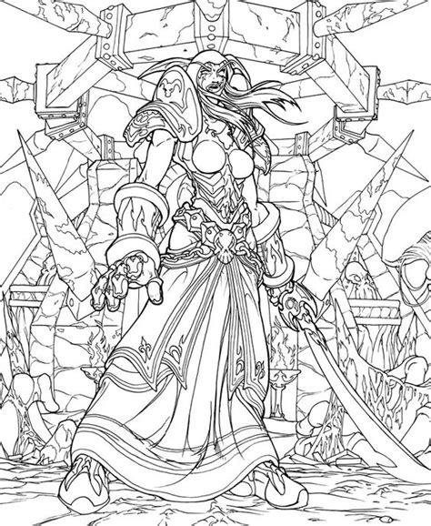 Wow Coloring Pages world of warcraft free coloring pages