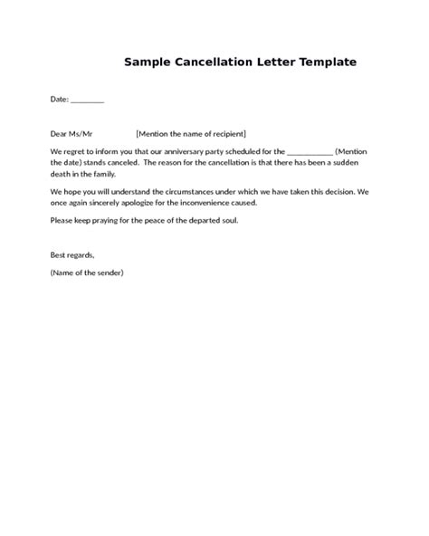 cancellation of house booking letter cancellation letter for house 28 images cancellation