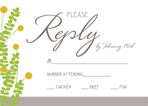 Wedding Invitation Rsvp Wording