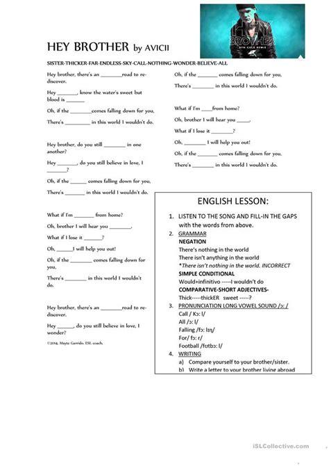 printable lyrics to earned it all worksheets 187 esl song lyrics worksheets printable
