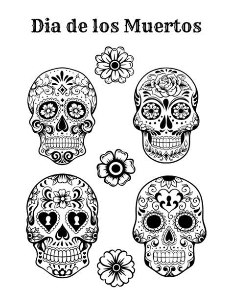 coloring page dia de los muertos get this free dia de los muertos coloring pages to print
