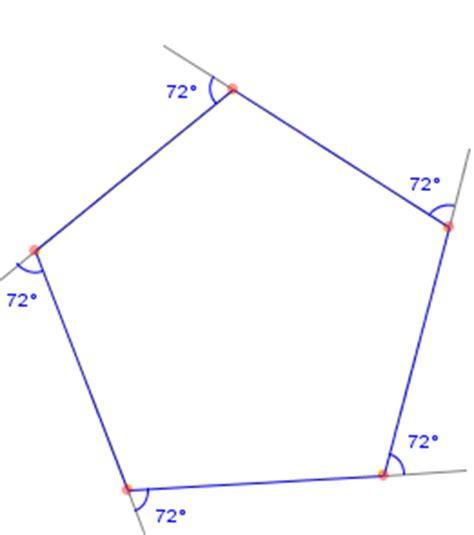Pentagon Interior Angles by Exterior Angle Of A Pentagon Basic Math Tutor