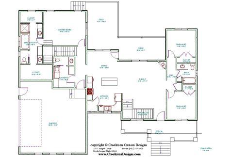 floor plan main is 6900sq crookston designs plan 11054 00