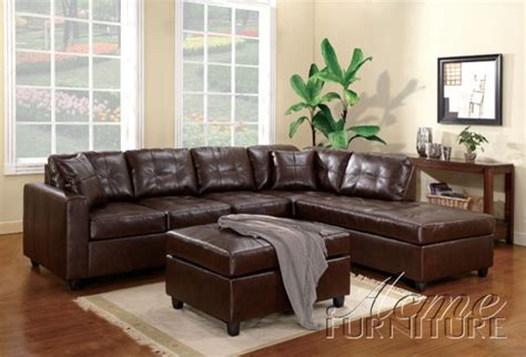 Chocolate Brown Sectional Sofa With Chaise Chocolate Brown Sectional Sofa Ezhandui