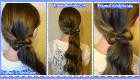 simple hairstyles with one elastic how to make a double hair bow hairstyle easy elastic wrap